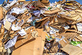Abfallbeispiel für Altpapier / Kartonagen