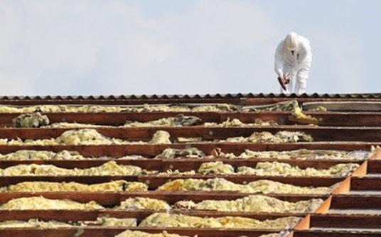 Abfallbeispiel für Asbest (Dämmung)