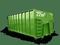 22 cbm Baumischabfall Container