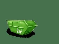 2 cbm Baumischabfall Container