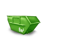 6 cbm Baumischabfall Container