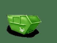 7 cbm Baumischabfall Container
