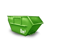 8 cbm Baumischabfall Container